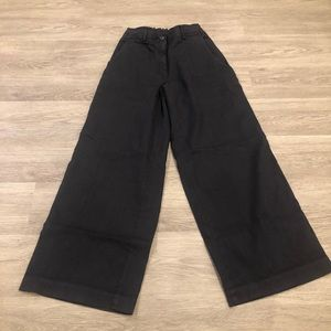 Via Masini 80 High Waist Wide Leg Linen Pants